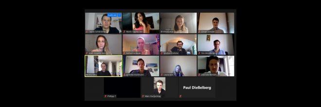 Online Mitgliederversammlung und Initiation